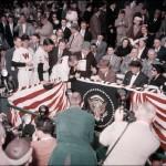 Eisenhower signs baseball