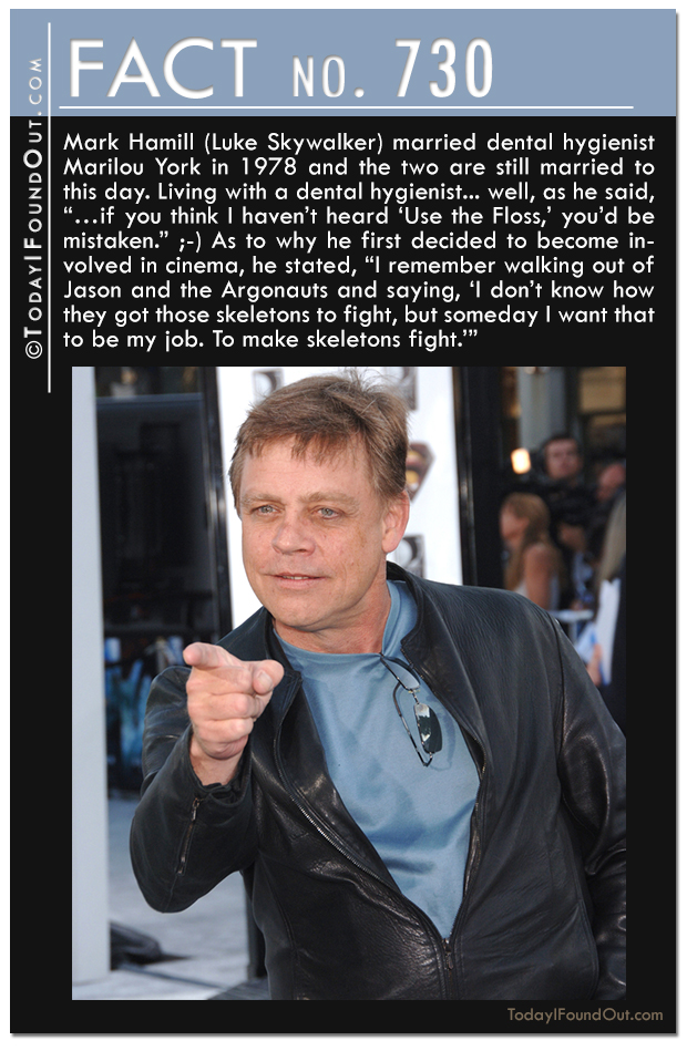 Mark hamill and a Dental Hygienist