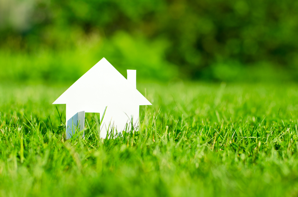 If you own land how far above and below do you own for Land home mortgage
