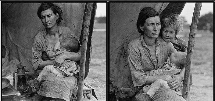 who was the woman in the famous great depression photograph