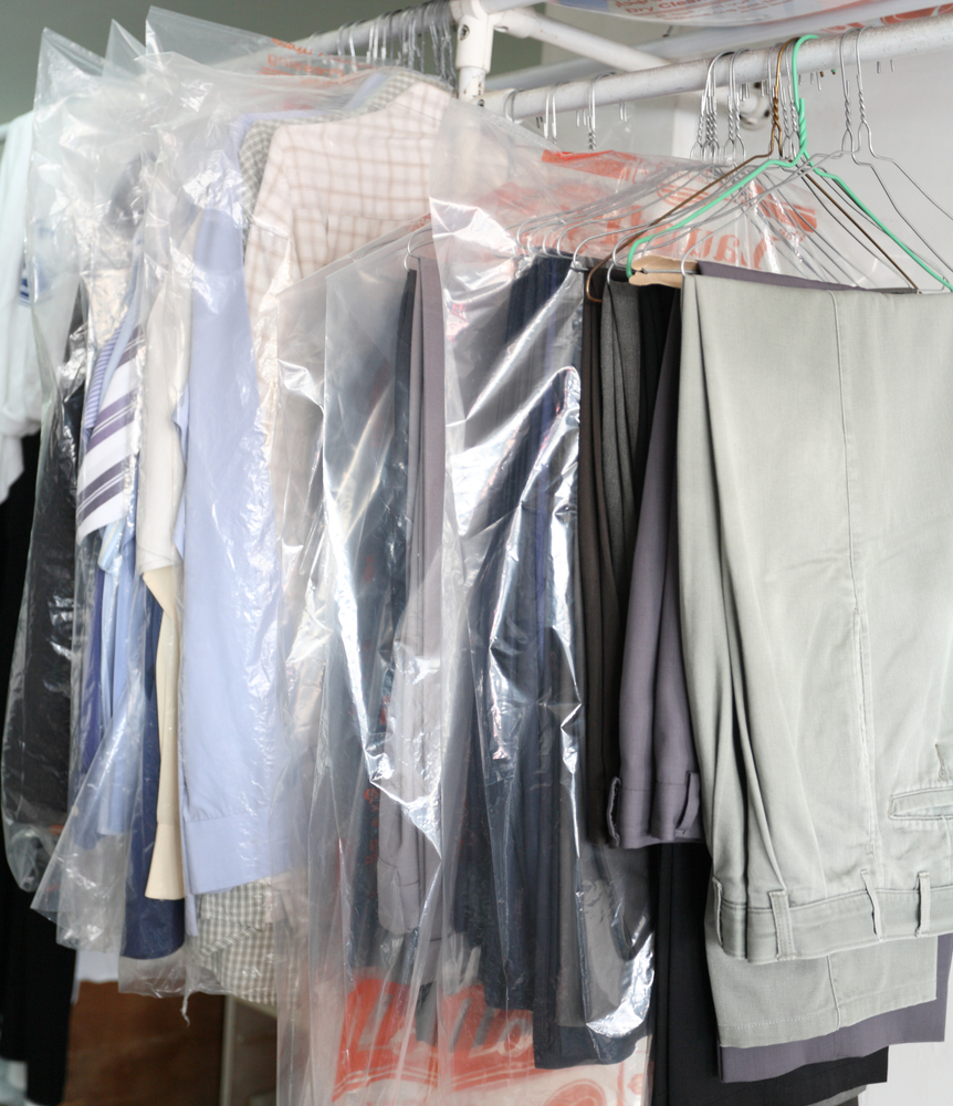 girl strips in dry cleaners