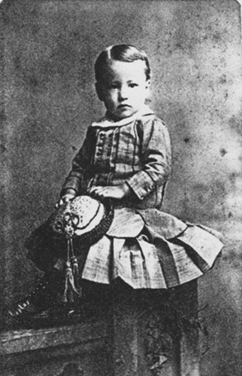 A Young boy in 1870
