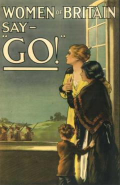 Poster issued in 1915 by the British Parliamentary Recruitment Committee