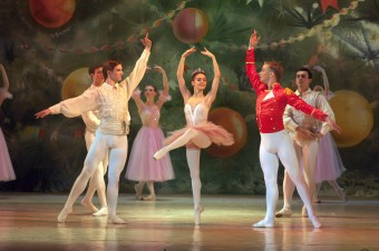 DNEPROPETROVSK UKRAINE - DECEMBER 30: Nutcracker ballet performed by Dnepropetrovsk Opera and Ballet Theatre ballet on December 30 2012 in Dnepropetrovsk Ukraine.