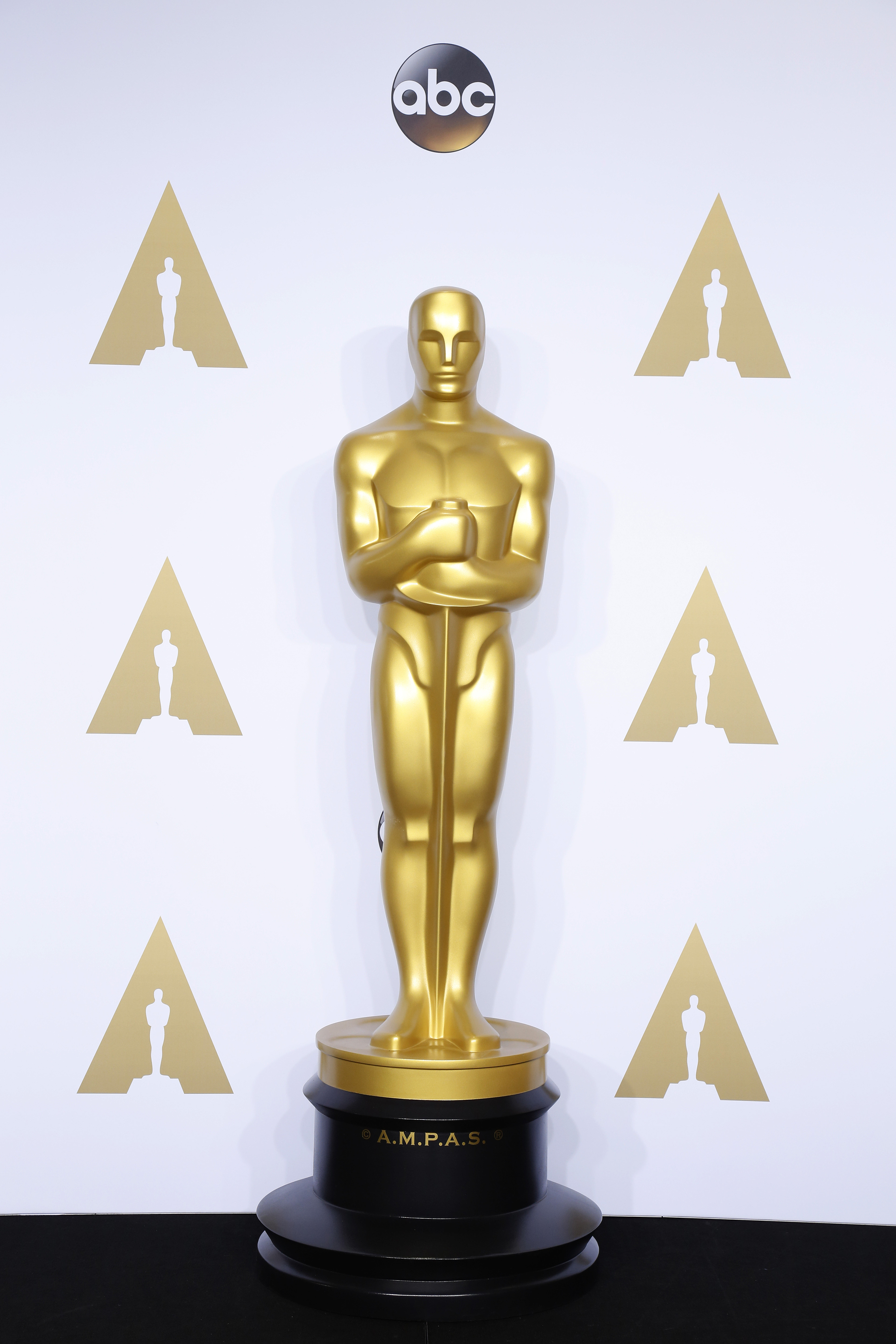 Much Oscar Worth on academy award trophy