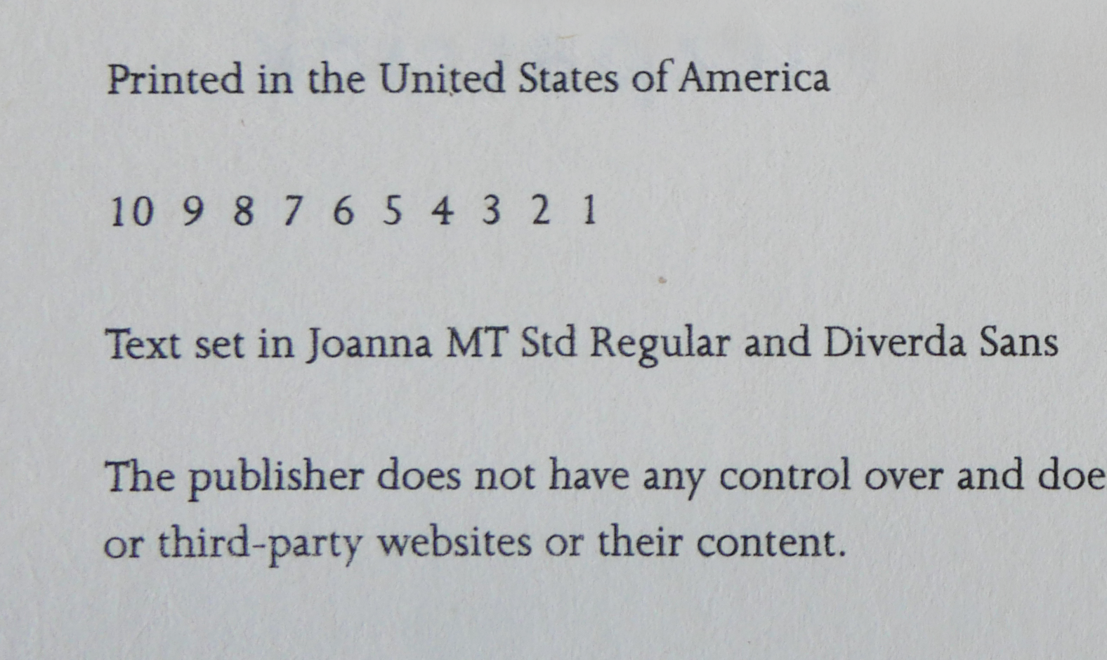 Why Do Books Copyright Pages Have 1 2 3 4 5 6 7 8 9 10
