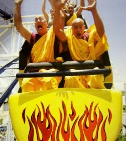 Monks on a roller coaster