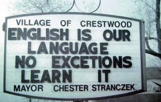 English First Language Sign
