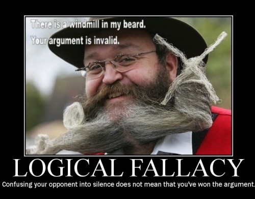 logical fallacy demotivator