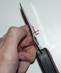 stripping wires with knife 2