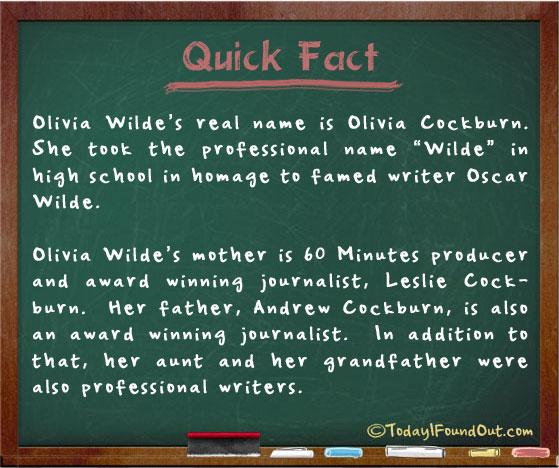 Olivia Wilde's Real Name is Olivia Cockburn