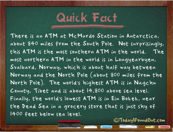 Quest Near Me >> There is an ATM in Antarctica
