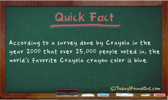 The World's Favorite Color of Crayon is Blue