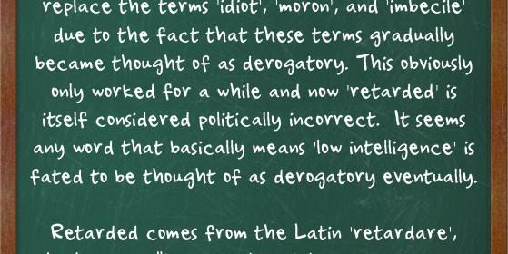 Etymology of Retarded