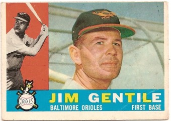 jim gentile baseball card