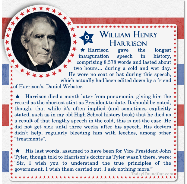 100+ Facts About US Presidents 9- William Henry Harrison