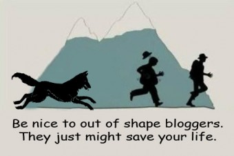 be nice to out of shape bloggers
